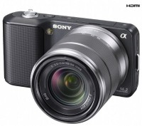 Sony NEX-3K body with 18-55mm lens SLR (Black)