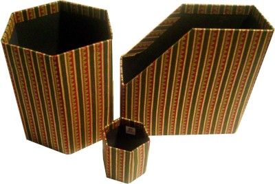 Buy Paper Theatre Handcrafted Fabric Desk Set: Desk Organizer