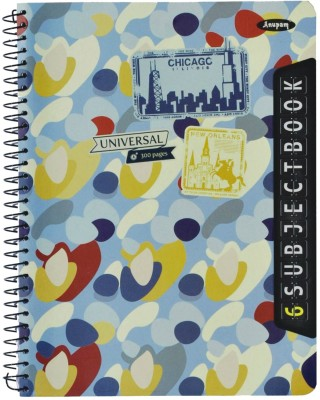 Buy Anupam Universal (6 Subject) Notebook Spiral Binding: Diary Notebook