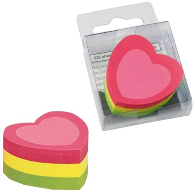 Buy Info Shaped Mini Cube 225 Sheets Post-its Sticky Note, 3 Colors: Post It