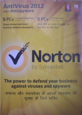 Buy Norton AntiVirus 2012 5 PC 1 Year: Security Software